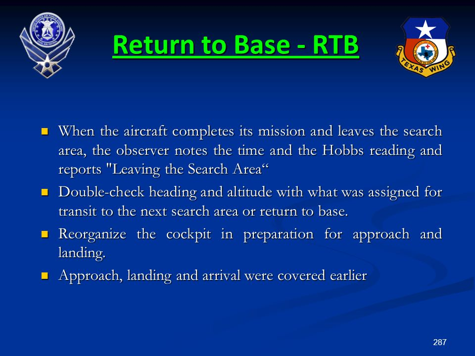Return to Base - RTB