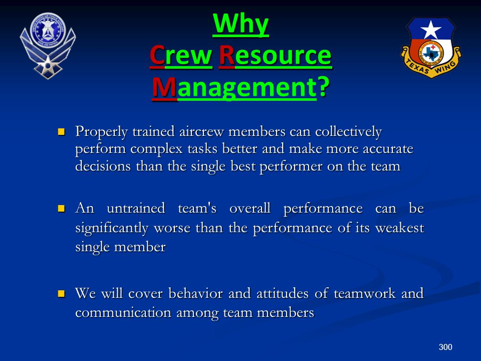 Why Crew Resource Management