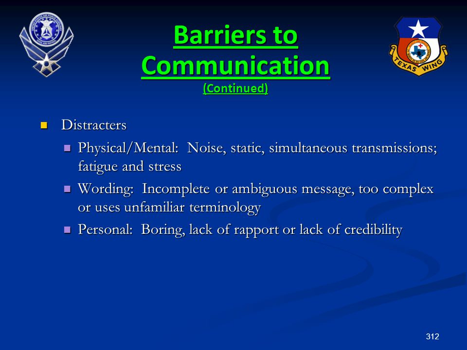 Barriers to Communication (Continued)