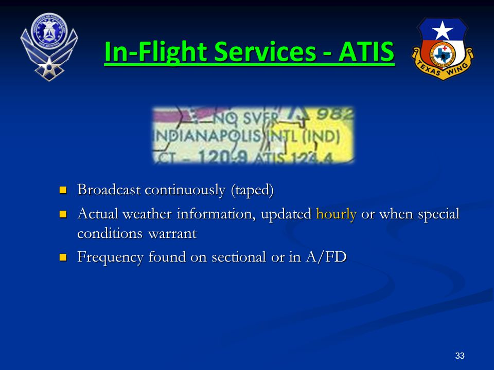 In-Flight Services - ATIS