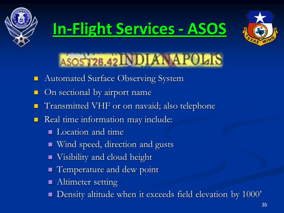 In-Flight Services - ASOS