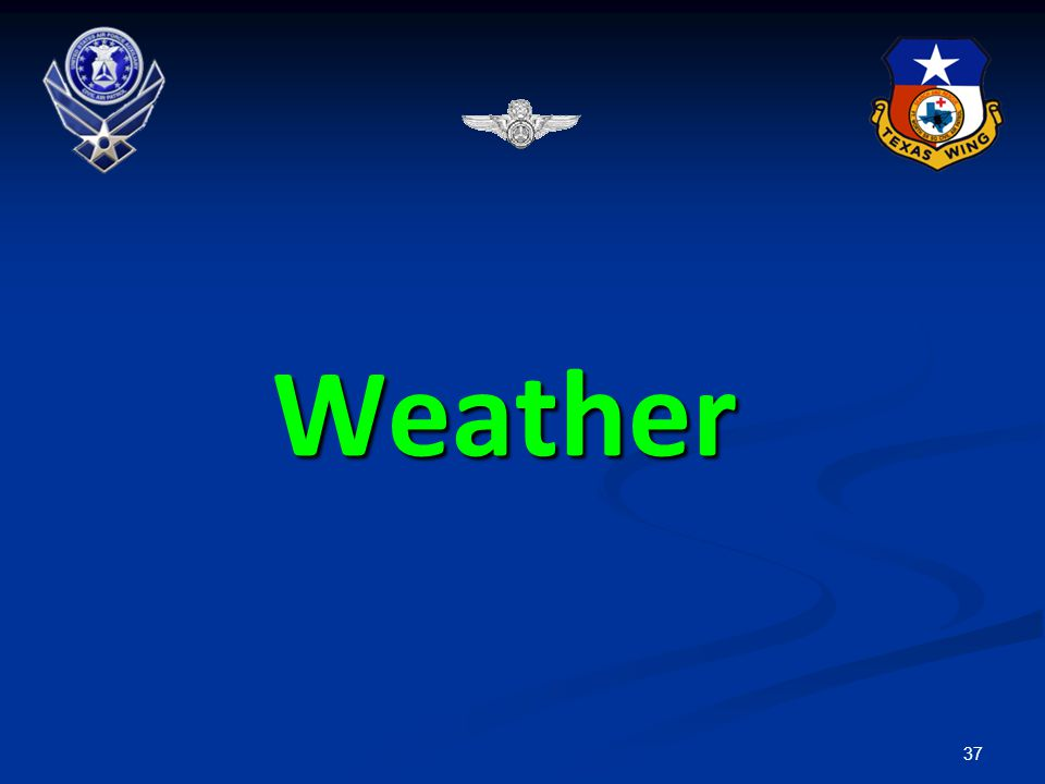 Weather VMC = Visual Meteorological Conditions