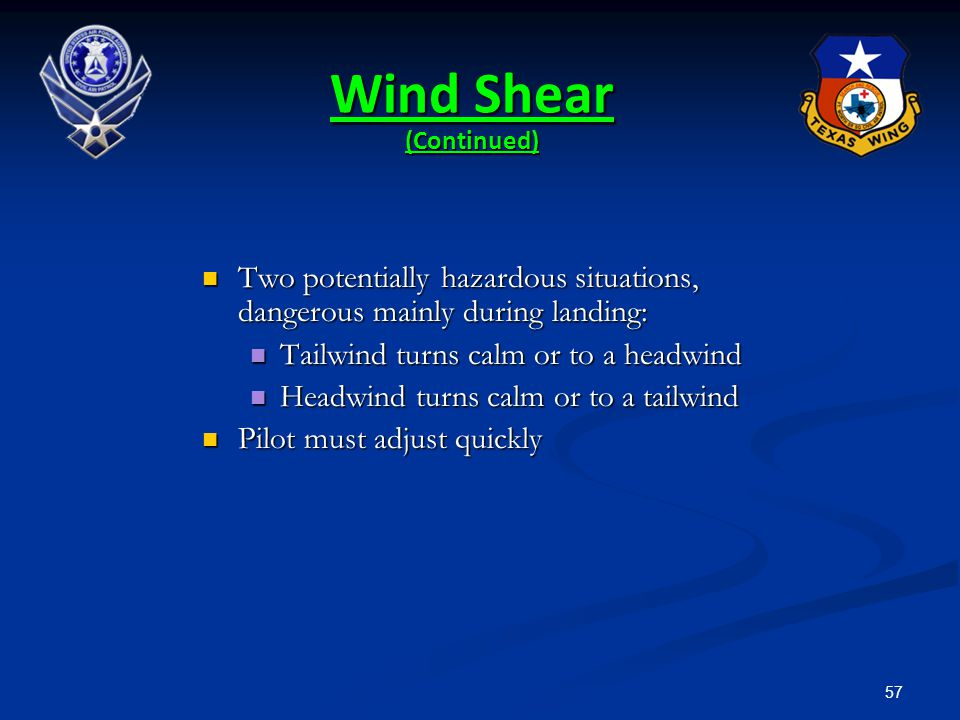 Wind Shear (Continued)