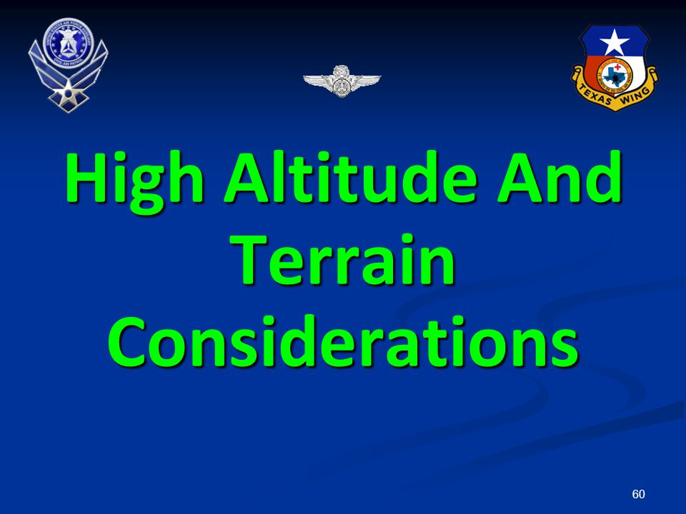 High Altitude And Terrain Considerations