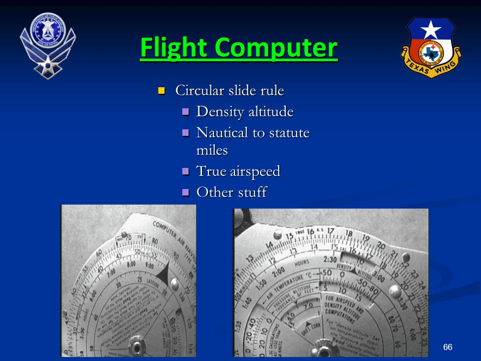 Flight Computer Circular slide rule Density altitude