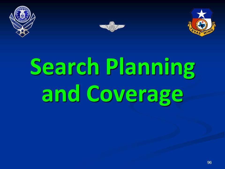 Search Planning and Coverage