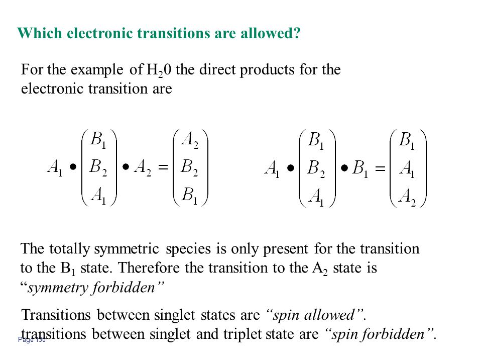 Which electronic transitions are allowed
