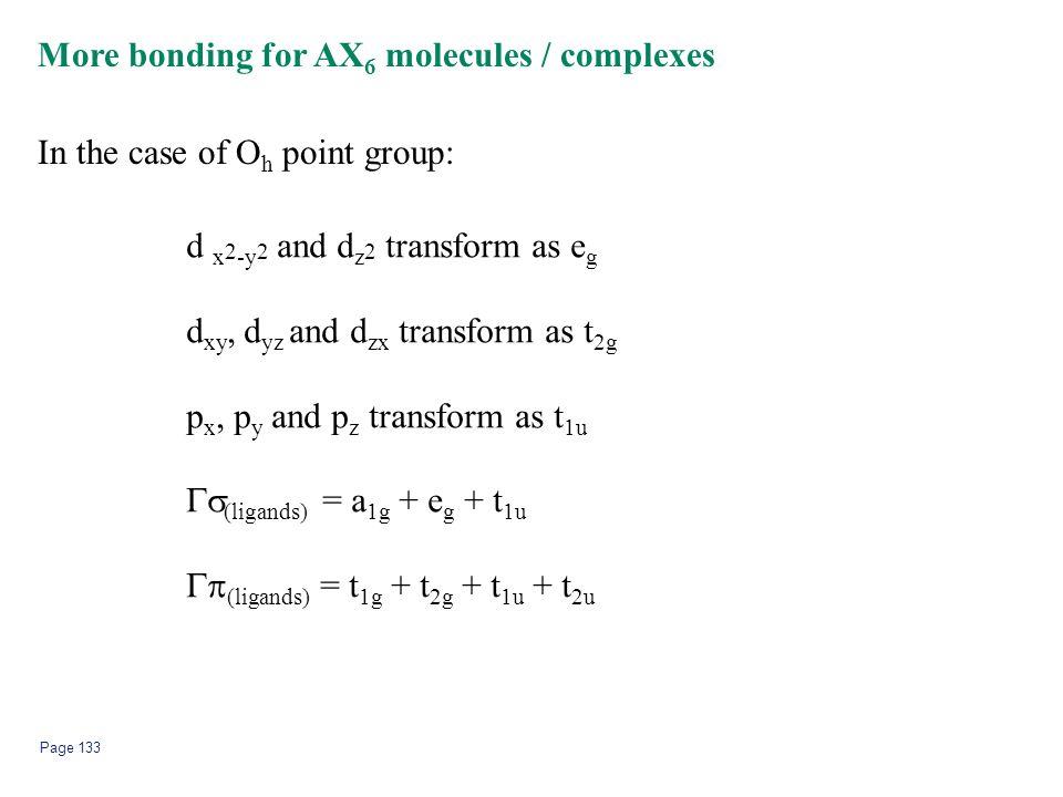 More bonding for AX6 molecules / complexes
