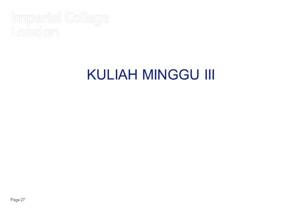 KULIAH MINGGU III