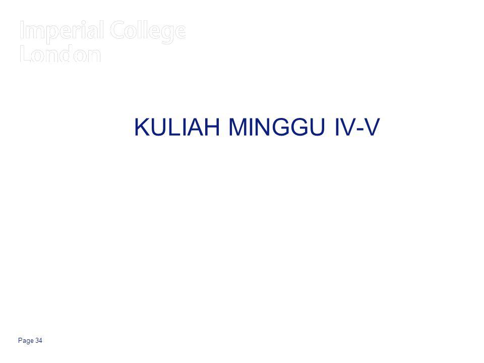KULIAH MINGGU IV-V