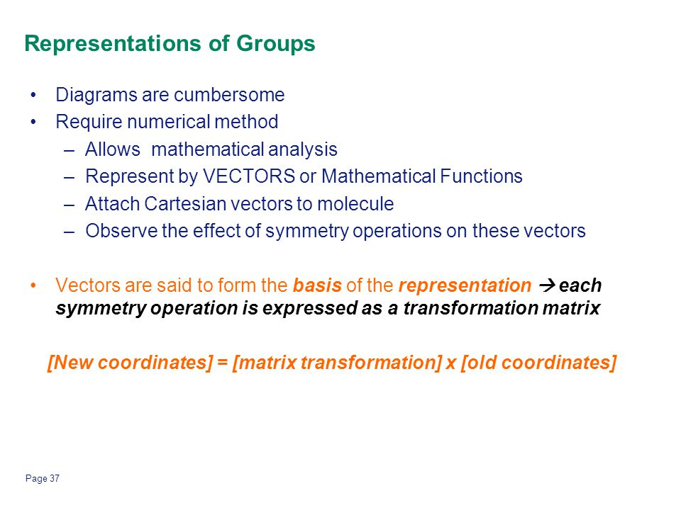 Representations of Groups