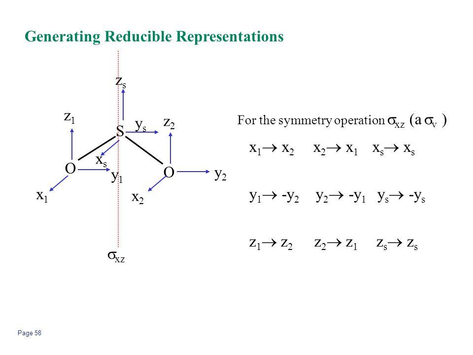 Generating Reducible Representations