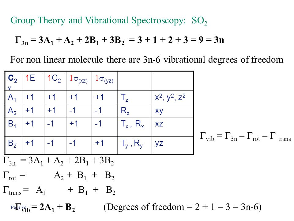 Group Theory and Vibrational Spectroscopy: SO2