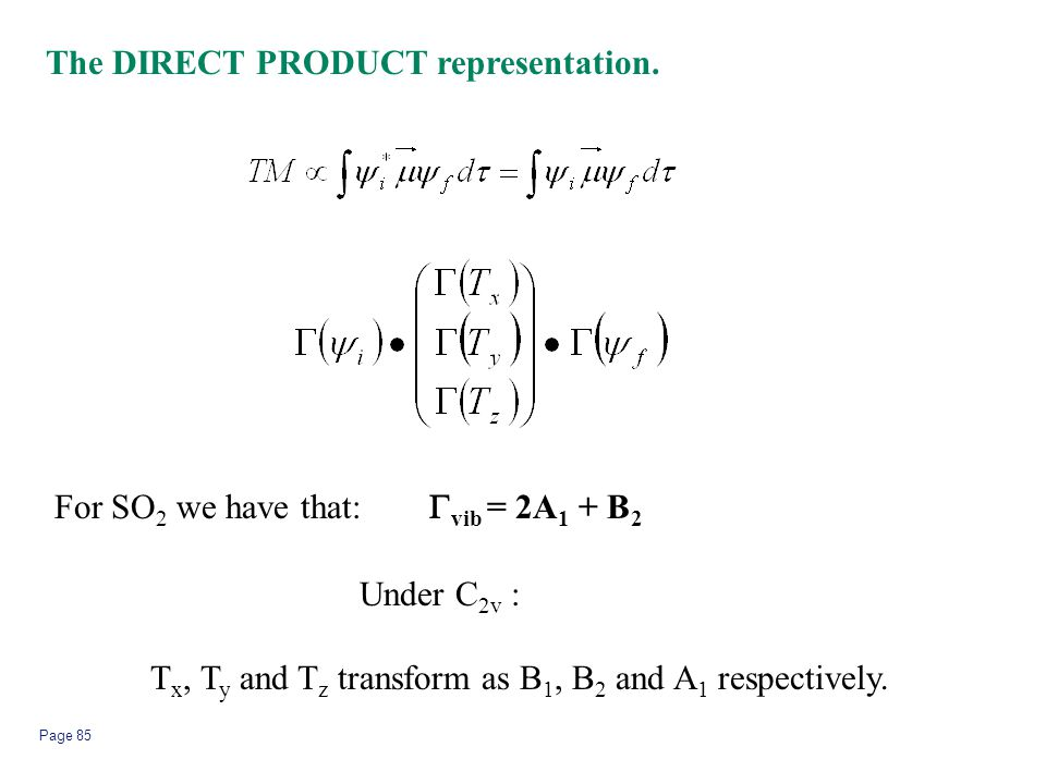 The DIRECT PRODUCT representation.