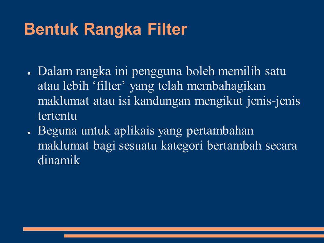 Bentuk Rangka Filter