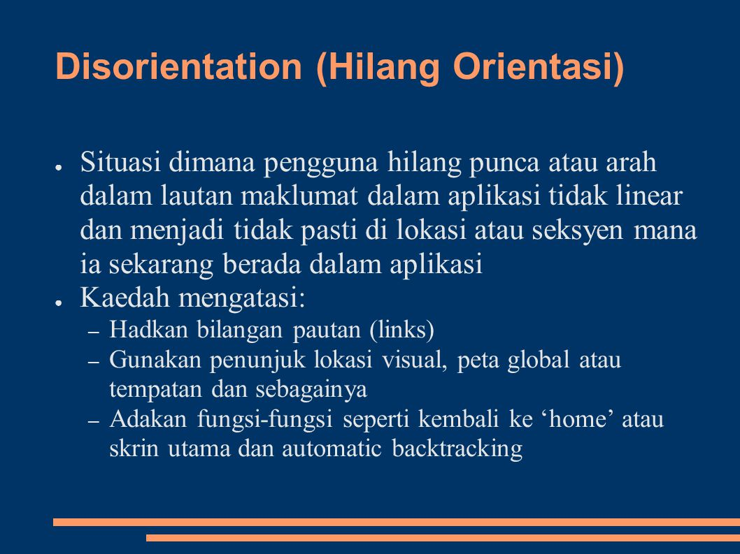 Disorientation (Hilang Orientasi)