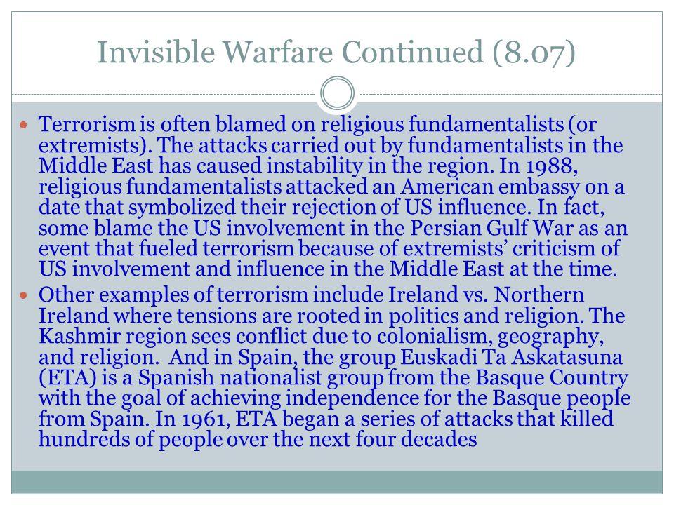 Invisible Warfare Continued (8.07)