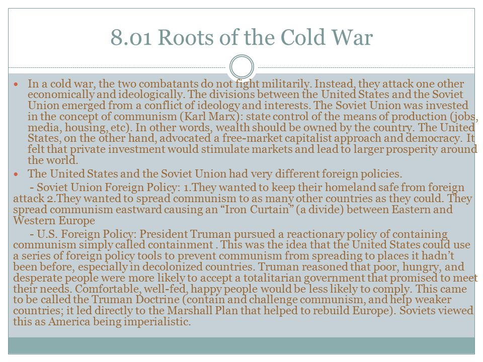 8.01 Roots of the Cold War