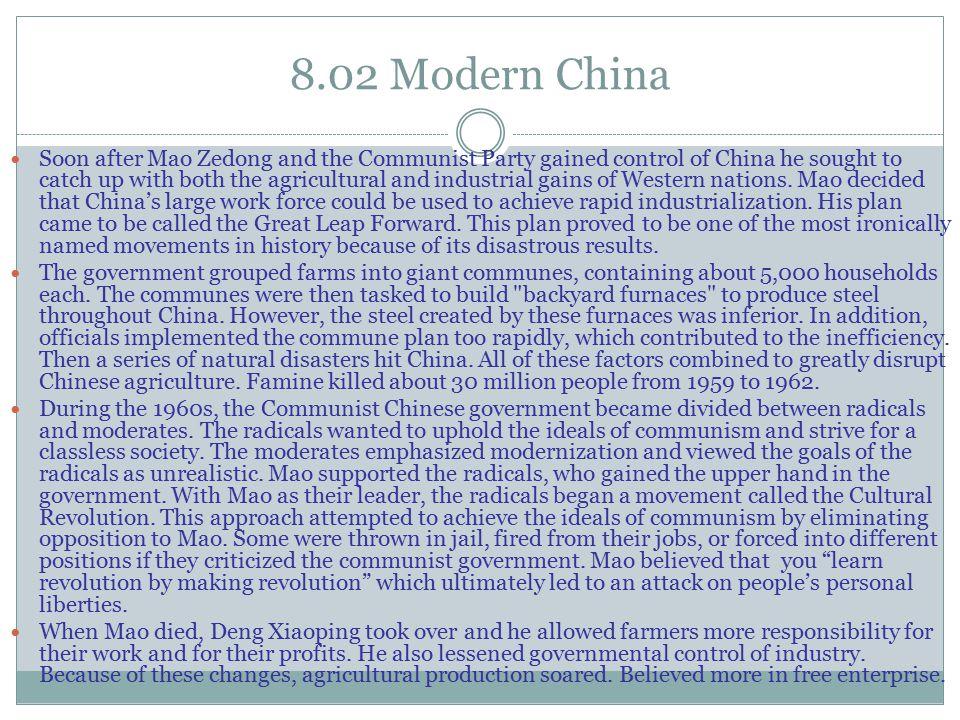 8.02 Modern China