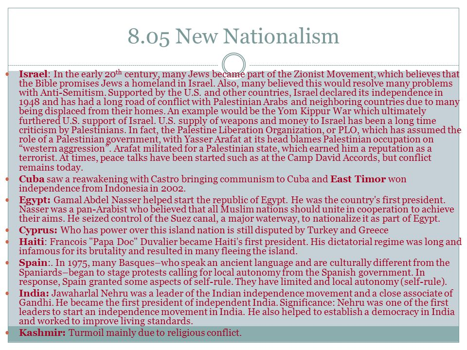 8.05 New Nationalism