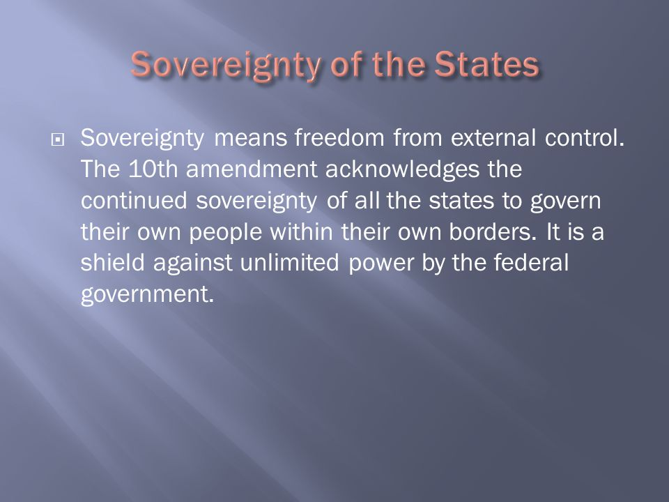 Sovereignty of the States