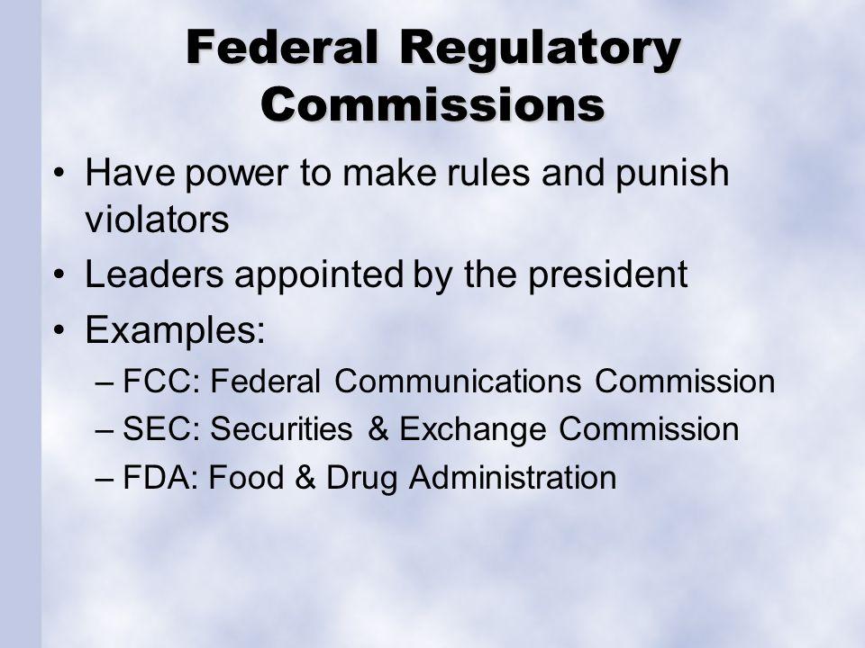 Federal Regulatory Commissions
