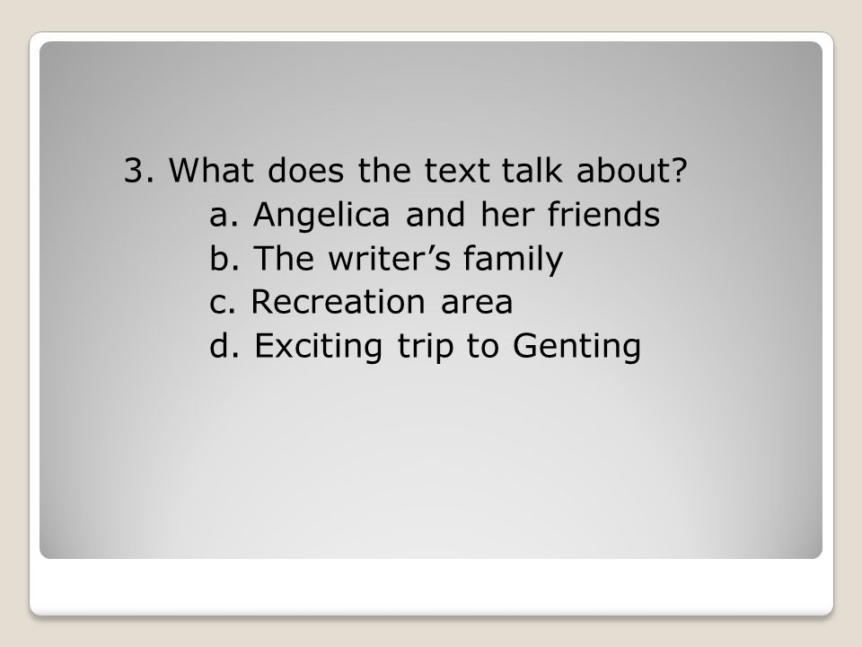 3. What does the text talk about