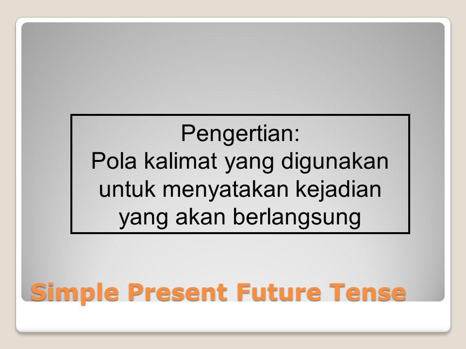 Simple Present Future Tense