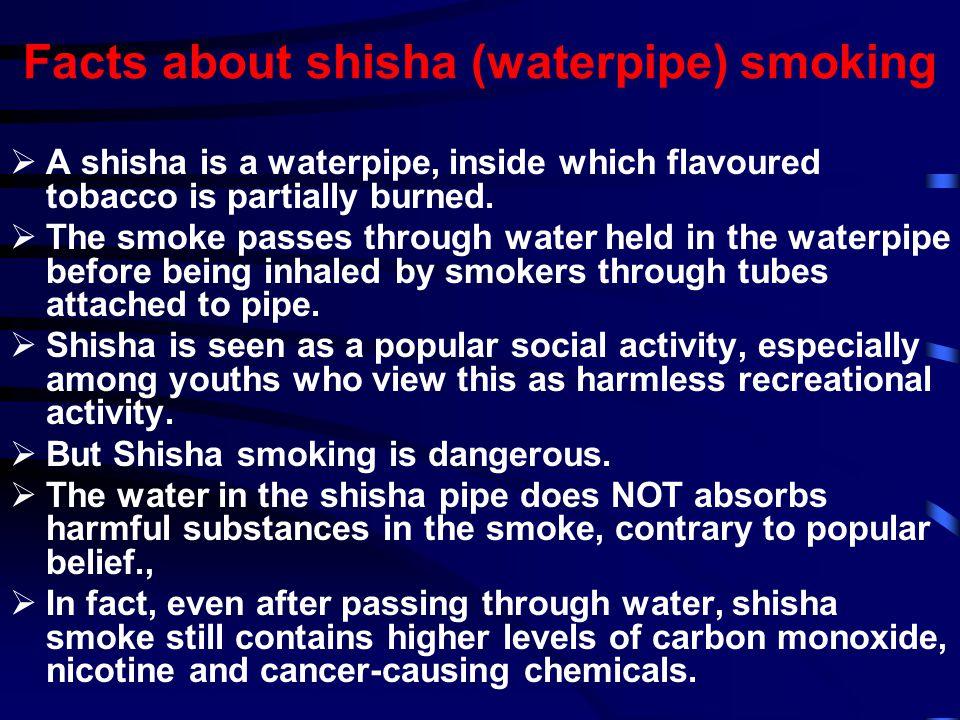 Facts about shisha (waterpipe) smoking