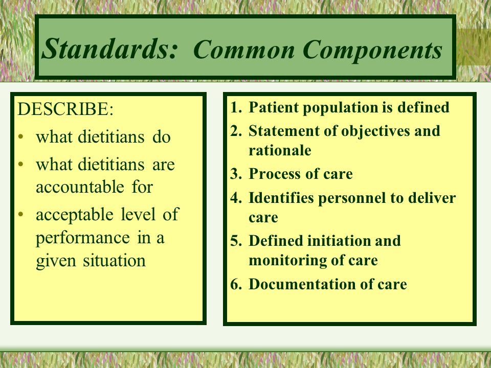 Standards: Common Components