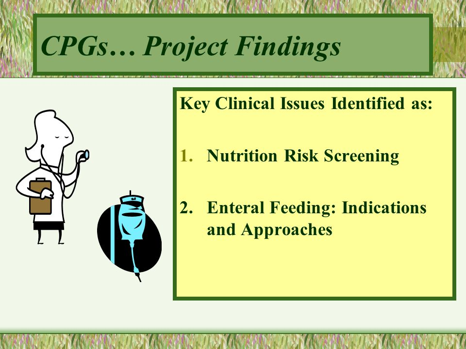 CPGs… Project Findings