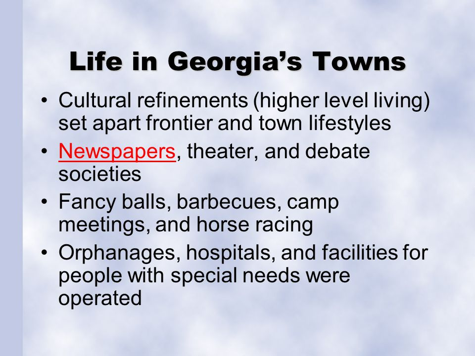 Life in Georgia's Towns