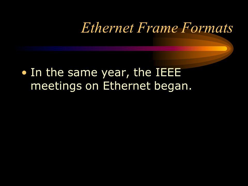 Ethernet Frame Formats