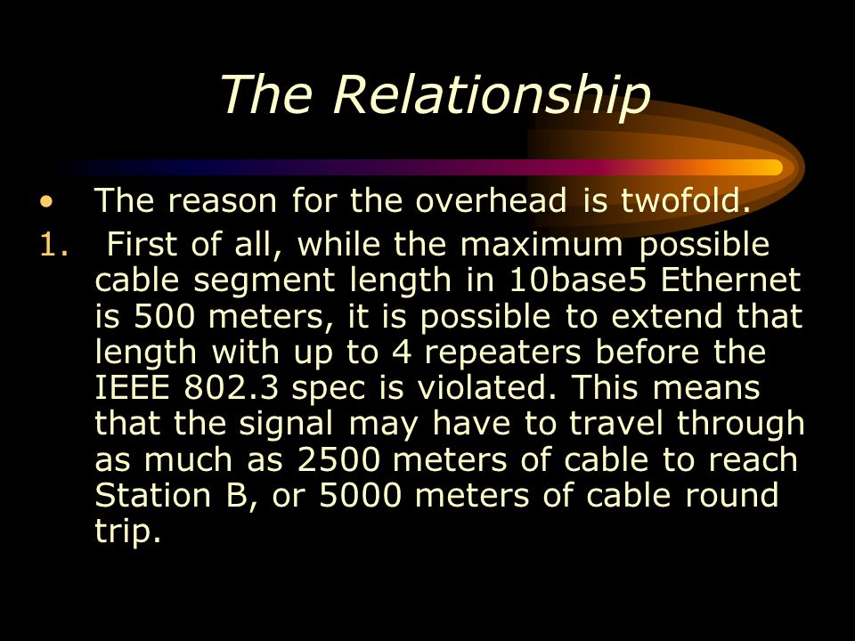 The Relationship The reason for the overhead is twofold.