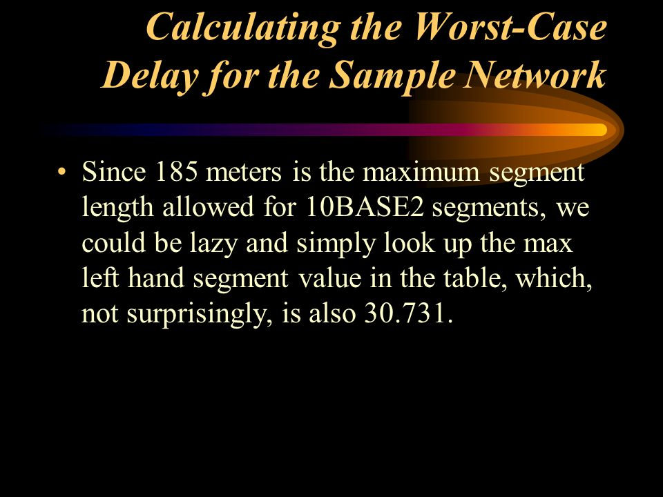 Calculating the Worst-Case Delay for the Sample Network