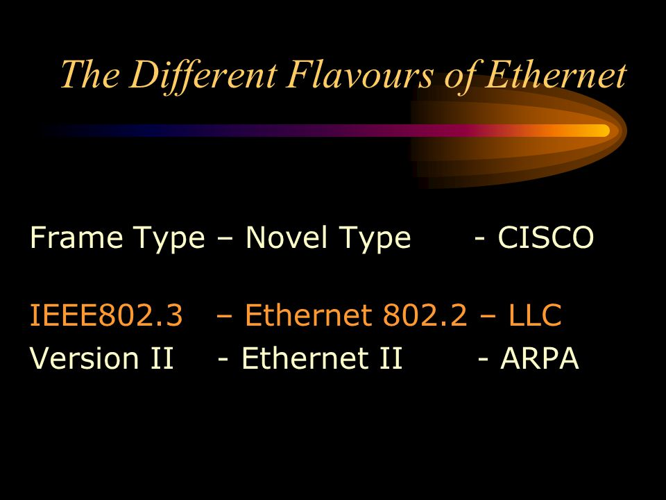 The Different Flavours of Ethernet