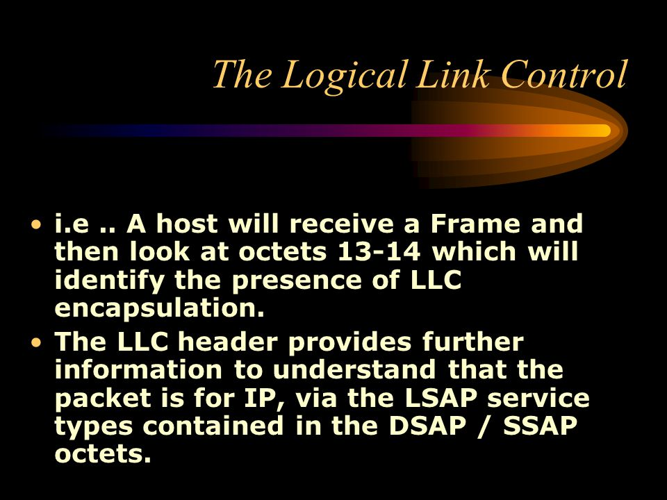 The Logical Link Control