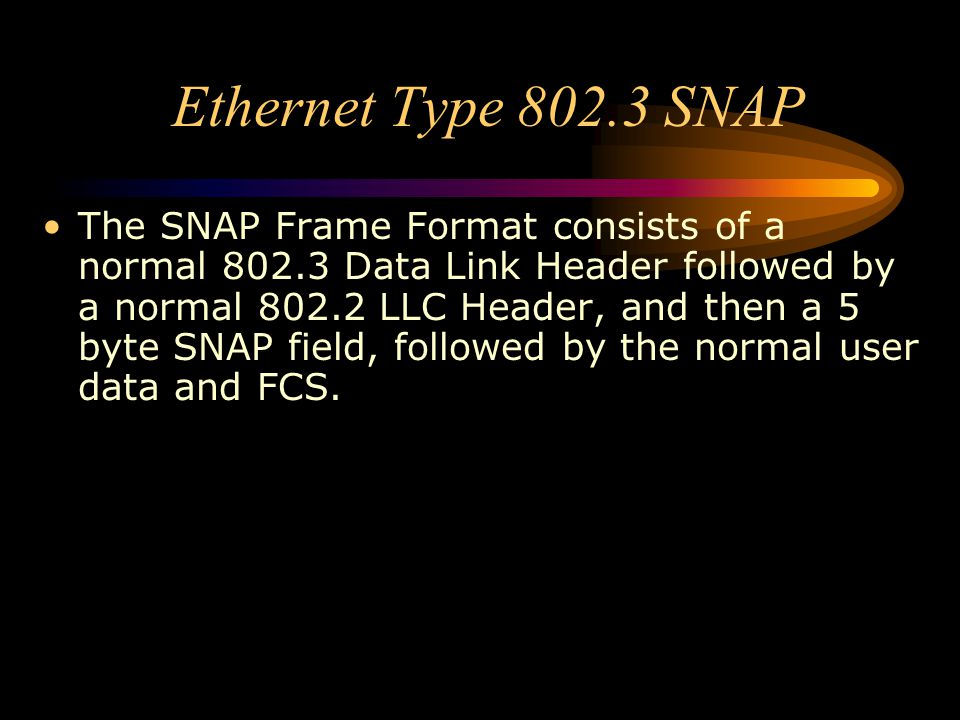 Ethernet Type 802.3 SNAP