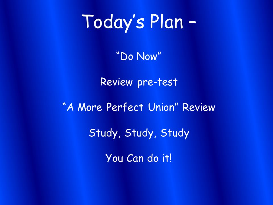 A More Perfect Union Review
