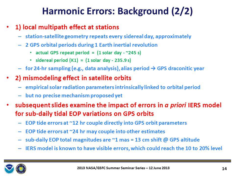 Harmonic Errors: Background (2/2)