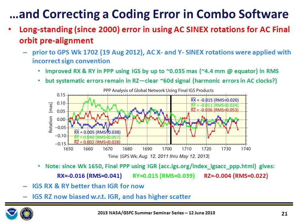 …and Correcting a Coding Error in Combo Software