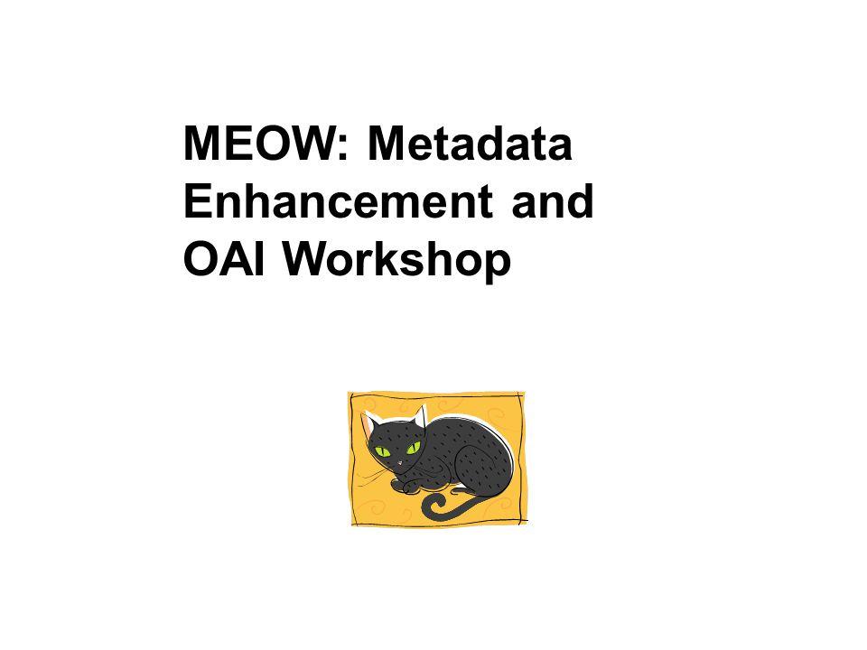 MEOW: Metadata Enhancement and OAI Workshop