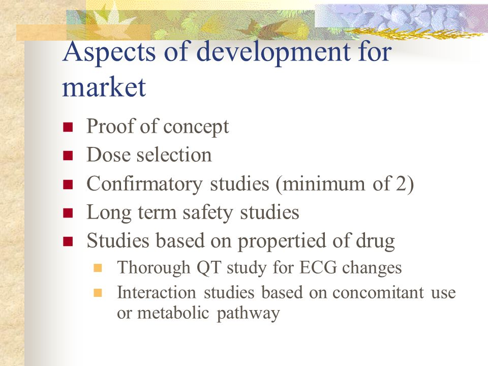 Aspects of development for market