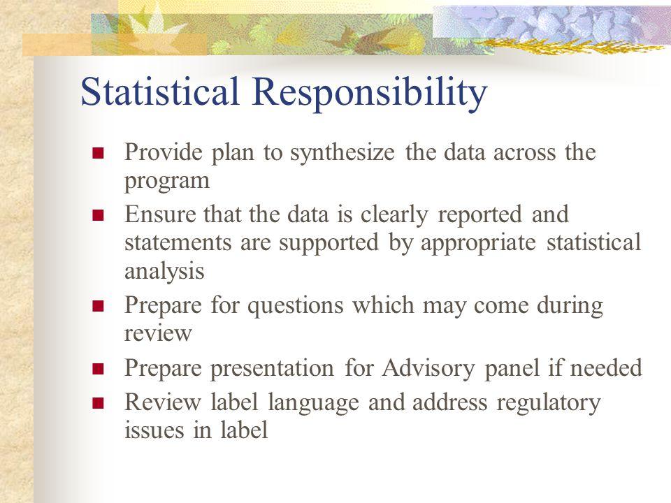 Statistical Responsibility