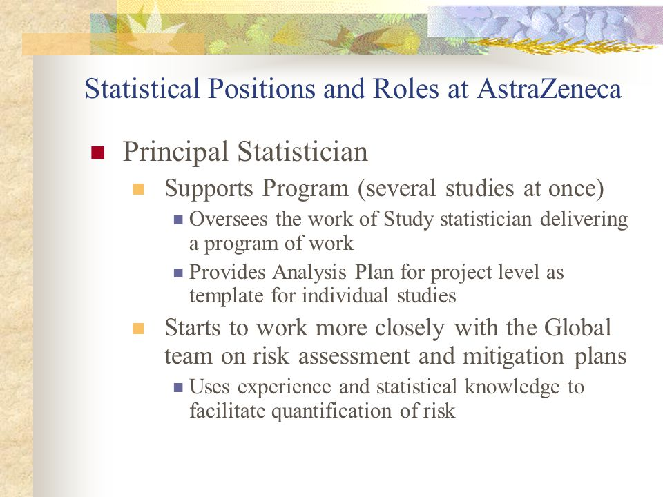 Statistical Positions and Roles at AstraZeneca