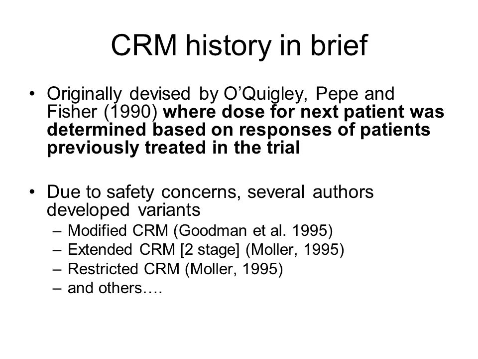 CRM history in brief
