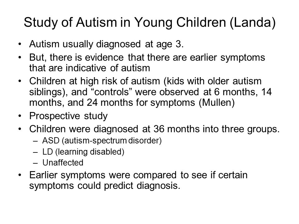 Study of Autism in Young Children (Landa)