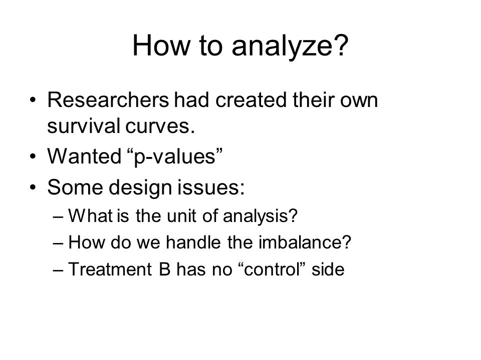 How to analyze Researchers had created their own survival curves.