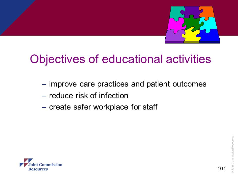 Objectives of educational activities