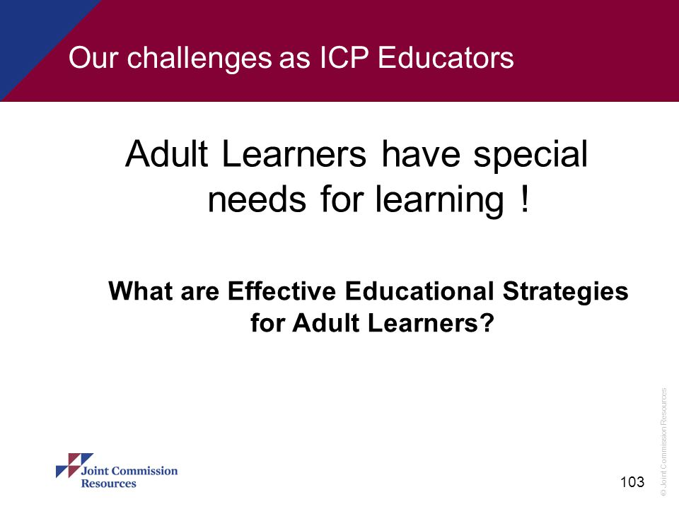 Our challenges as ICP Educators